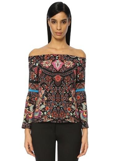 Etro Kayık Yaka Çiçekli Bluz Renkli